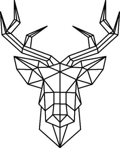 Gk Jeleń Geometryczny Zwierzęta Geometryczne Naklejki ścienne
