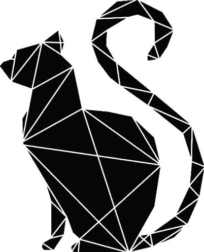 Sgw Kot Geometryczny Szablon Malarski Zwierzęta Geometryczne