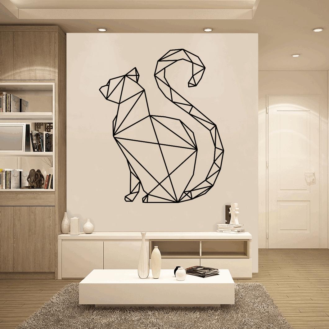 Gk Kot Geometryczny Zwierzęta Geometryczne Naklejki ścienne